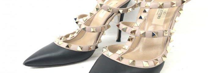ヴァレンティノ (VALENTINO) ロックスタッズパンプス 靴底補強修理