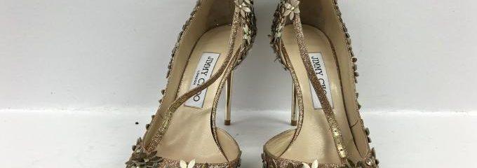 ジミーチュウ(JIMMY CHOO)シルクハーフソール靴修理