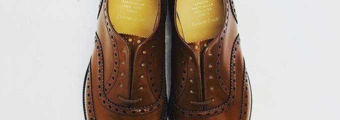 チャーチ(Church's)靴修理事前補強
