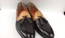 サントーニ(SANTONI)靴修理事前補強