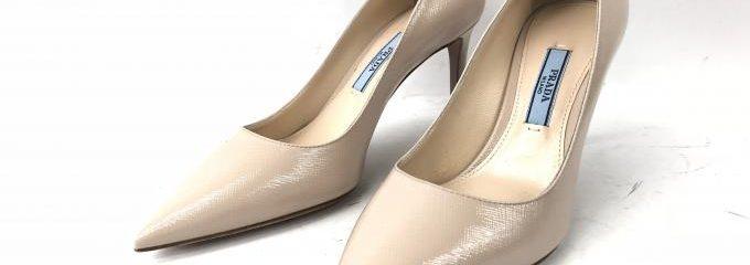 プラダ(PRADA)サフィアーノ靴ハーフソール修理