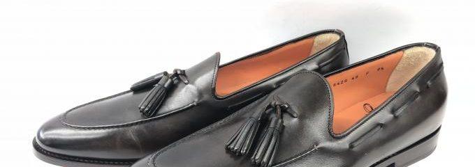 サントーニ(SANTONI)タッセルローファー靴底補強修理