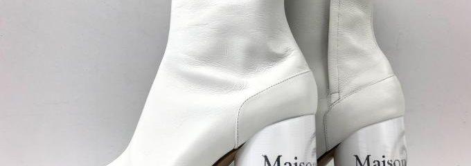 メゾン マルジェラ(Maison Margiela)タビホログラムアンクルブーツ補強修理