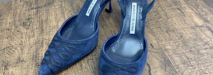 マノロ ブラニク(Manolo Blahnik)キャロリン事前靴底補強修理