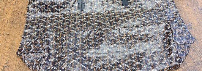 ゴヤール(GOYARD)サンルイトート4隅穴補強修理