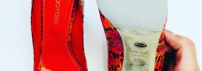 セルジオロッシ(Sergio Rossi)ハーフソール 靴修理