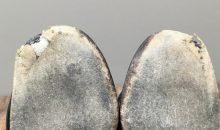 レペット (REPETTO)つま先糸ほつれ靴底補強事例