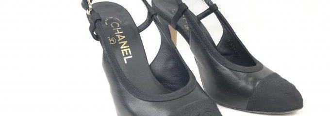 シャネル(CHANEL)シルクハーフソール靴底補強修理
