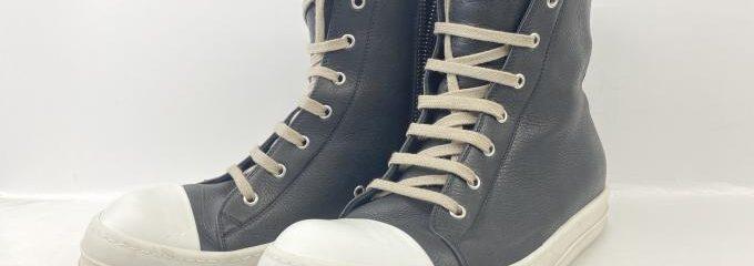 リックオウエンスラモーンズレザー(Rick Owens)靴底補強修理