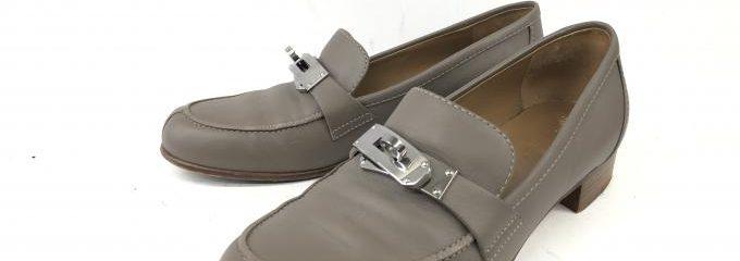 エルメス(HERMES)靴修理シルクハーフラバーリフト補強修理