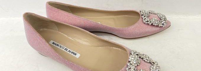 マノロブラニクハンギシ(Manolo Blahnik)新品靴底補強修理