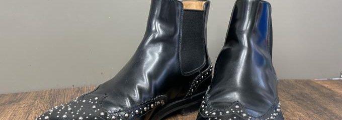 チャーチ(Church's)ケッツビーサイドゴアブーツ靴底半張り補強修理