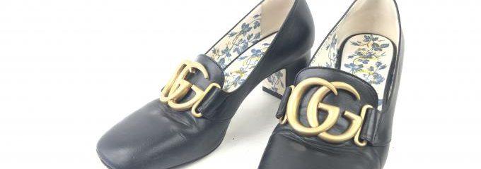 グッチ(GUCCI)靴 ハーフソールセット修理