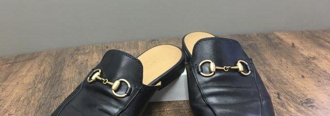 グッチ (GUCCI)レザースリッパ靴底補強修理